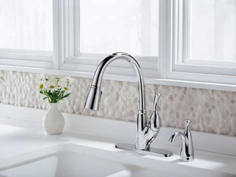 Delta Allora Pull Down Spray Kitchen Faucets